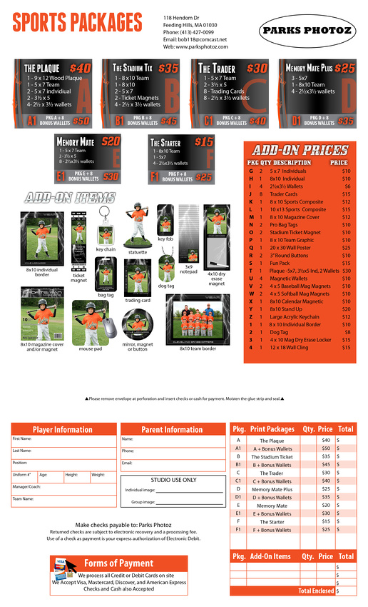 Parks Photoz Sports Pre-Pay Flyer II